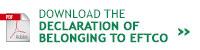 Declaration of membership of EFTCO