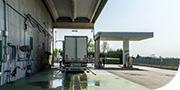 Area di rifornimento gasolio per mezzi pesanti
